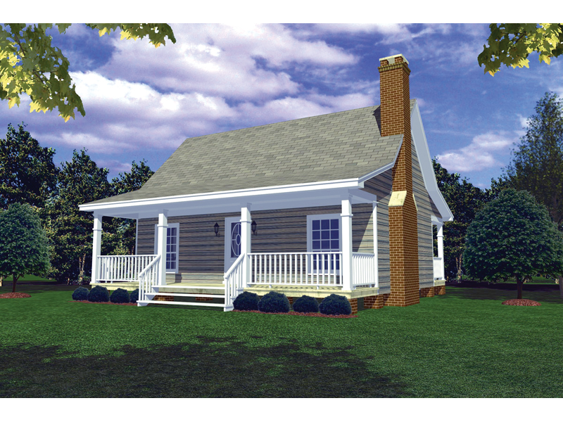 Vacation House Plan Front of Home - 077D-0014 | House Plans and More