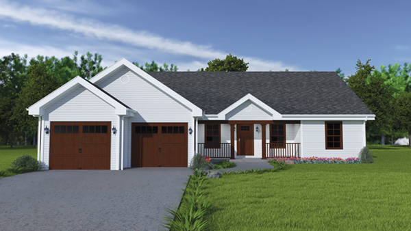 Stovall country ranch home plan 077d 0019 house plans for Classic ranch home plans