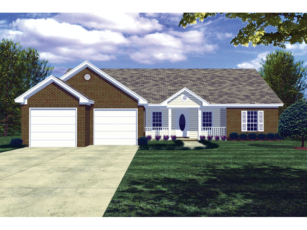 Pompeii ranch style home plan 077d 0020 house plans and more for Ranch style home plans with front porch