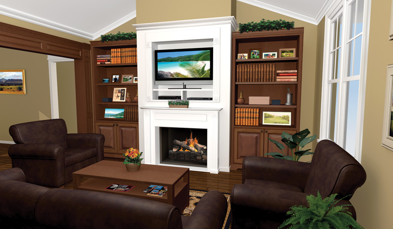 Traditional House Plan Great Room Photo 03 077D-0025