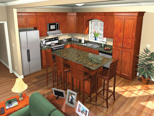 Ranch House Plan Kitchen Photo 01 077D-0025