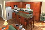 Traditional House Plan Kitchen Photo 01 - 077D-0025 | House Plans and More