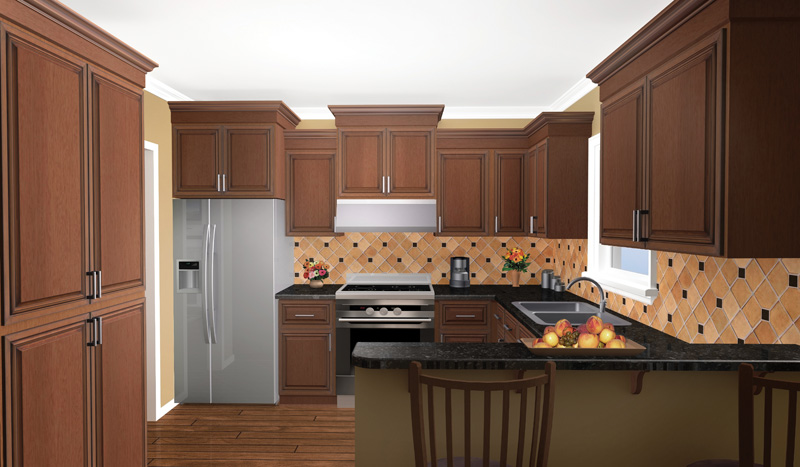 Traditional House Plan Kitchen Photo 02 077D-0025