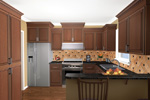 Traditional House Plan Kitchen Photo 02 - 077D-0025 | House Plans and More