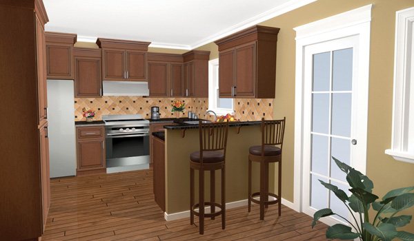 Ranch House Plan Kitchen Photo 05 077D-0025