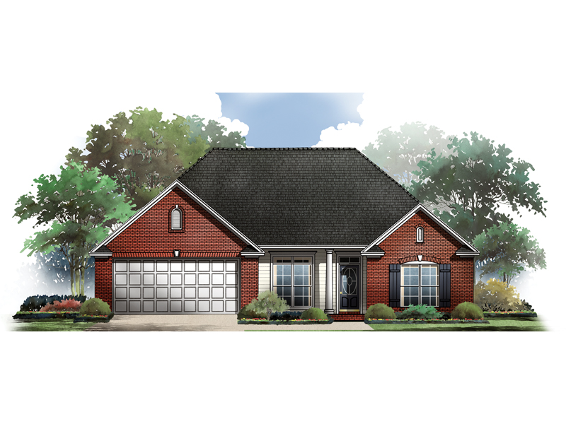 Traditional House Plan Front of Home - 077D-0035 | House Plans and More