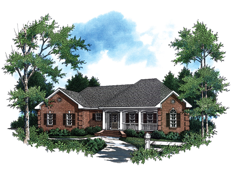 Country House Plan Front Image - 077D-0039 | House Plans and More