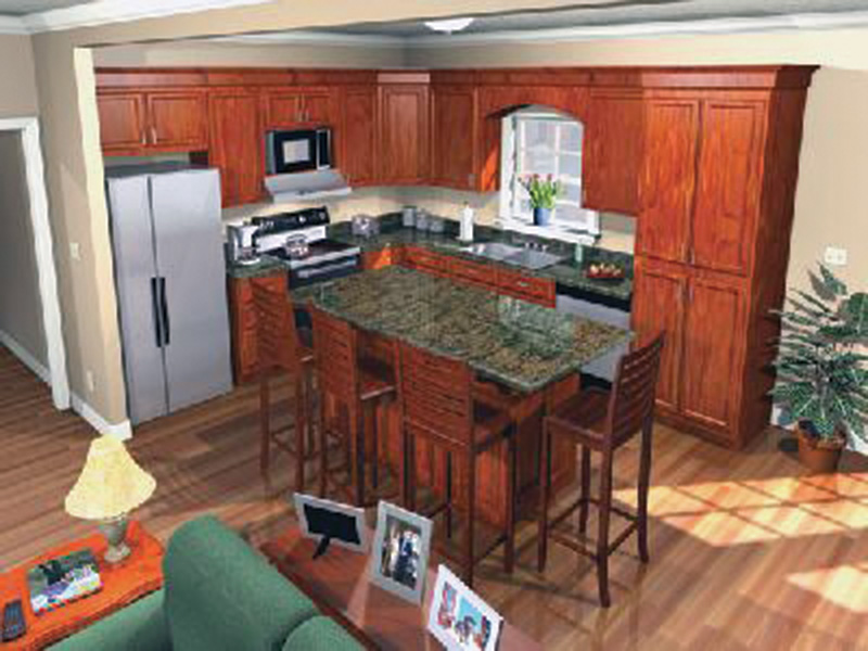 Ranch House Plan Kitchen Photo 02 - 077D-0042 | House Plans and More