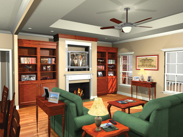 Ranch House Plan Living Room Photo 01 - 077D-0042 | House Plans and More