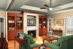 Ranch House Plan Great Room Photo 01 - 077D-0043 | House Plans and More