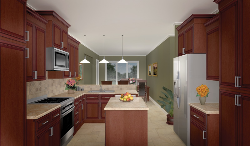 Country House Plan Kitchen Photo 02 - 077D-0044 | House Plans and More