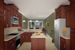 Ranch House Plan Kitchen Photo 02 - 077D-0044 | House Plans and More