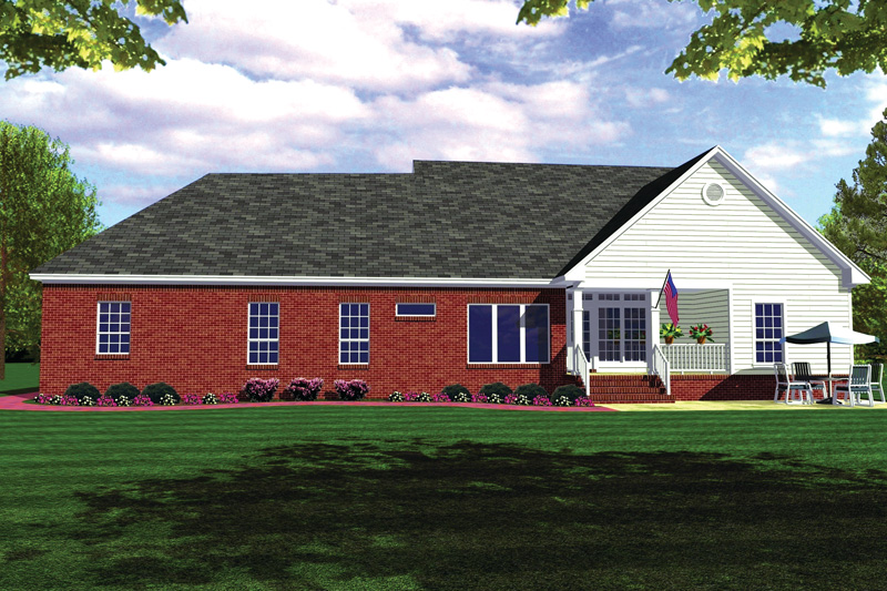 Traditional House Plan Rear Photo 01 - 077D-0044 | House Plans and More