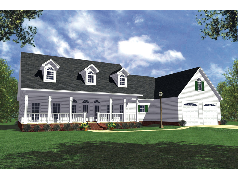 Striking Country Style Home With Trio Of Dormers