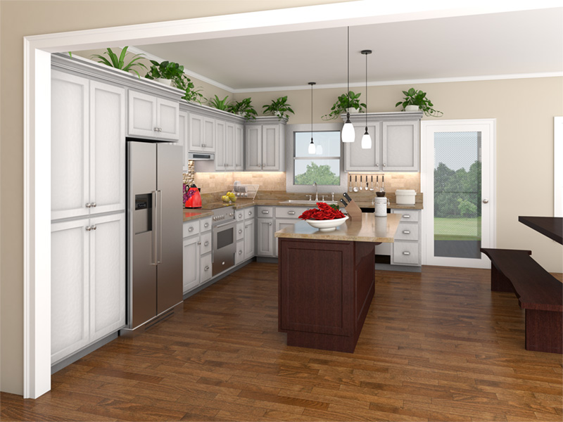 Traditional House Plan Kitchen Photo 01 - 077D-0050 | House Plans and More