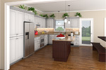 Country House Plan Kitchen Photo 01 - 077D-0050 | House Plans and More