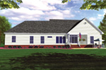 Ranch House Plan Rear Photo 01 - 077D-0053 | House Plans and More