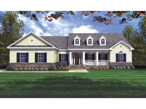 Pegasus Country Ranch Home Plan 077d 0057 House Plans
