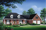 Home Has Stunning Porch With Rounded Dormers