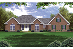 Great Symmetry With This Brick Ranch House