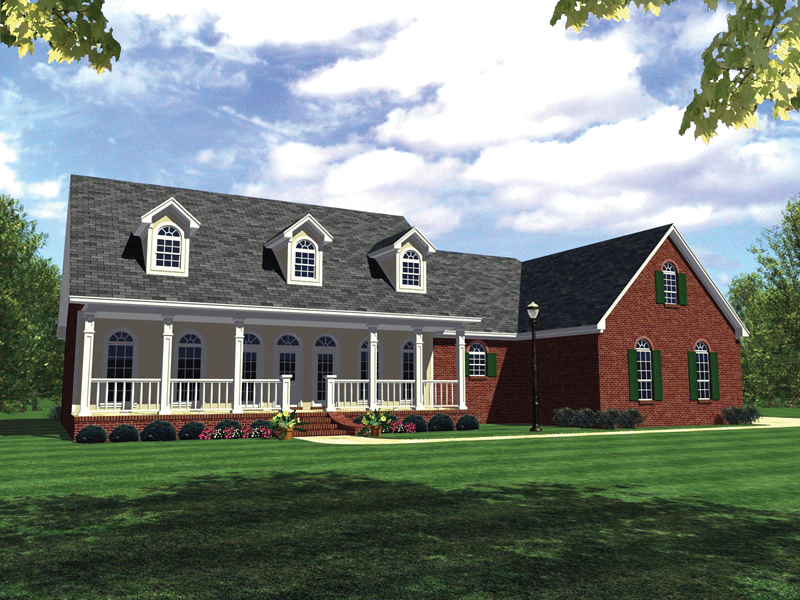 Striking Country House a With Deep Covered Porch