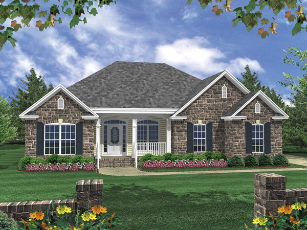 Duchamp ranch home plan 077d 0073 house plans and more for One story ranch homes