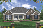 Traditional Ranch Has Brick And Siding Exterior