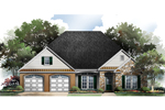 Ranch House Plan Front Image - 077D-0080 | House Plans and More