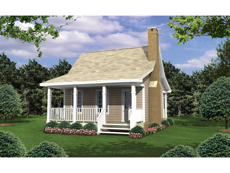 Cottage Home Has A Covered Front Porch For Enjoying The Outdoors