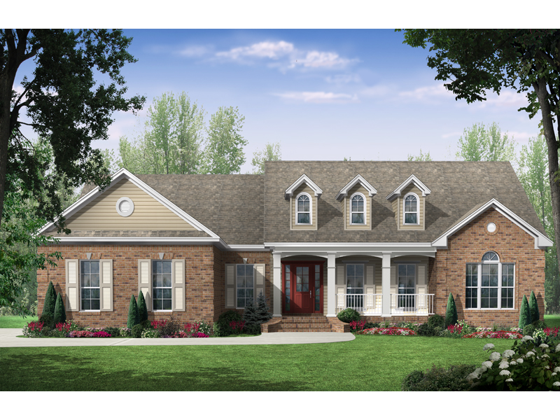 Country House Plan Front of Home 077D-0098