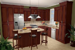 Ranch House Plan Kitchen Photo 01 - 077D-0098 | House Plans and More