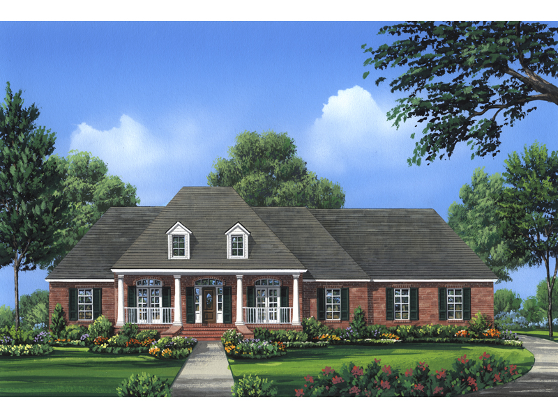 Ranch House Plan Front of Home - 077D-0103 | House Plans and More