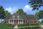 Country House Plan Front of Home - 077D-0103 | House Plans and More