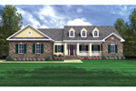 Country Inspired Ranch Home Features Triple Dormers