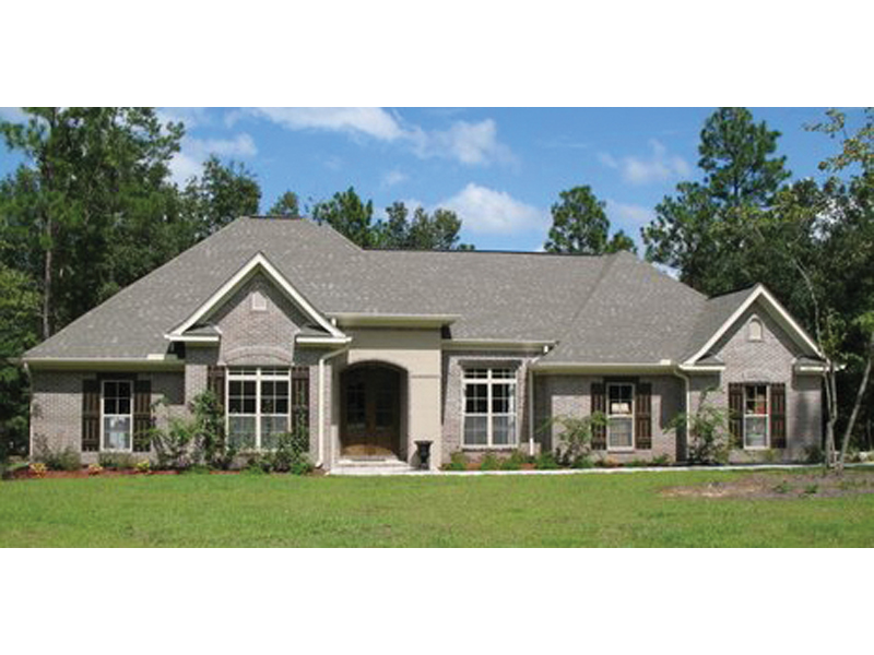 Ranch House Plan Front of Home 077D-0113