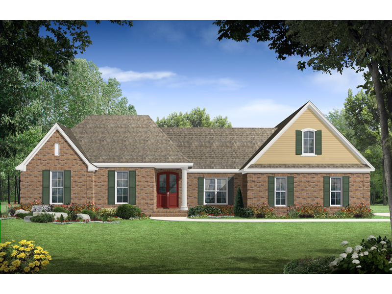 Traditional House Plan Front of Home - 077D-0115 | House Plans and More