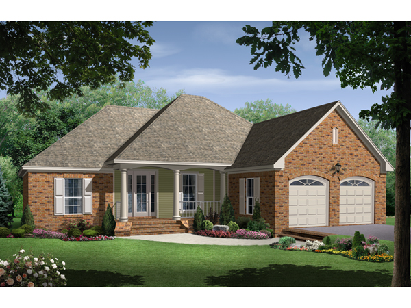 Miguel traditional ranch home plan 077d 0120 house plans for Traditional ranch home plans