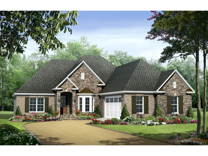 Traditional House Plan Front of Home - 077D-0123 | House Plans and More