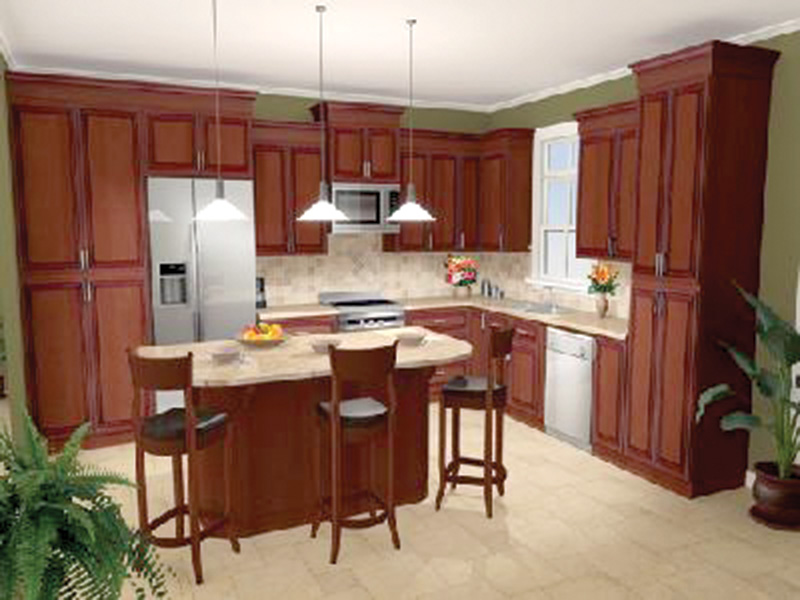 Country House Plan Kitchen Photo 01 - 077D-0131 | House Plans and More