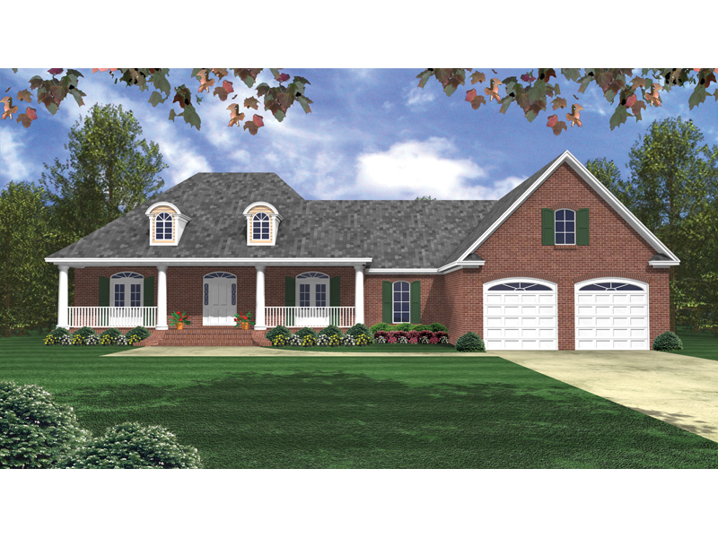 Lovely Brick Ranch With Arched Dormers