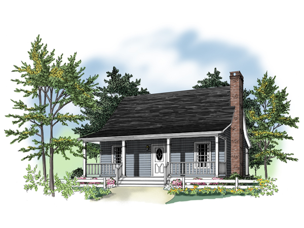 Knox acadian home plan 077d 0137 house plans and more for Small acadian house plans