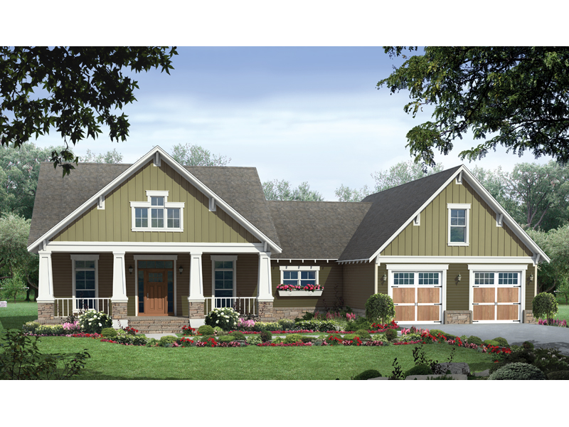 Barron arts and crafts home plan 077d 0142 house plans for Country craftsman home plans