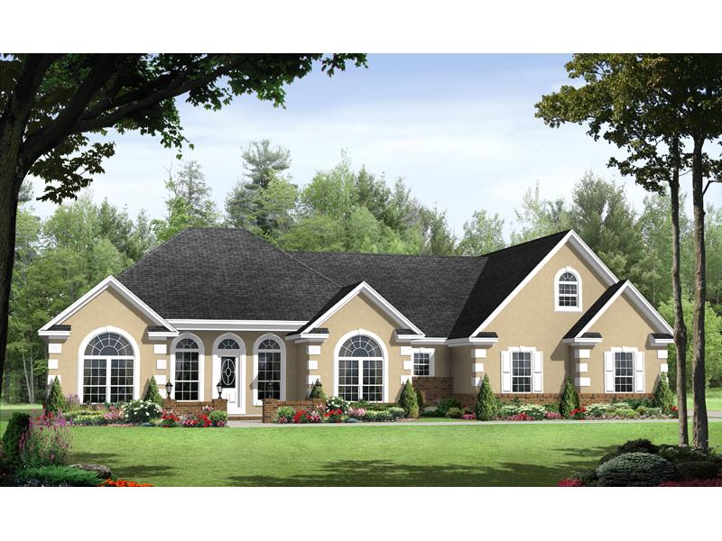 Seabreeze sunbelt ranch home plan 077d 0150 house plans for Sunbelt homes