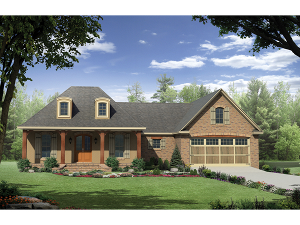 Creole creek country french plan 077d 0154 house plans French country house plans with front porch