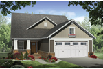 Craftsman Style Ranch With Lovely Tapered Porch Pillars And Stone Dcor 