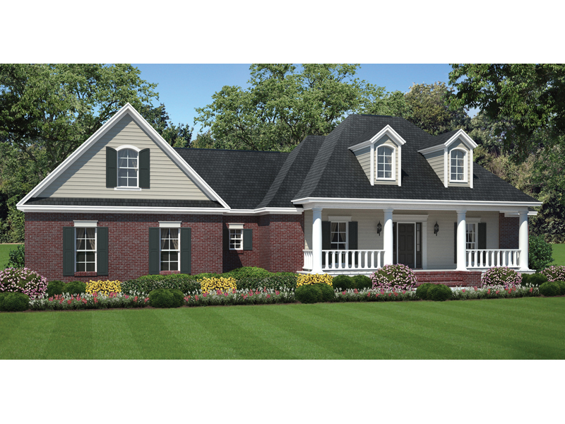 Horseshoe ridge plantation home plan 077d 0166 house for Traditional ranch home plans