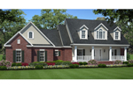 Triple Dormers Add Character To Country Southern Design