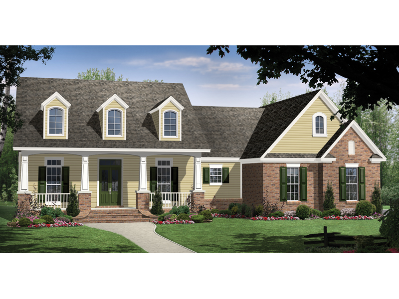 Inviting Country Southern Design With Triple Dormers