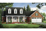 Comfortable Country Southern Design With Triple Dormers