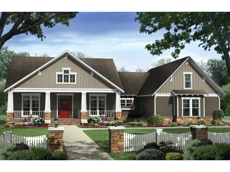 Craftsman Design With Inviting Appeal And Open Design